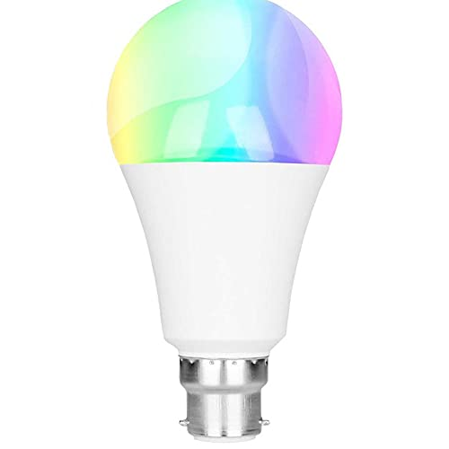 WiFi Smart Light Bulbs B22 Bayonet,9W 850LM Dimmable Warm/Cool and Colour Changing Light Bulb, Works with Alexa, Google Home, Control by APP, No Hub Required [Energy Class A++]