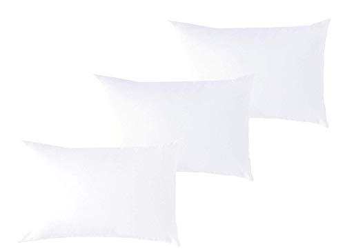 P'tit Basile Kissenbezüge, Bio-Baumwolle, 40 x 60 cm, Weiß, 3 Stück