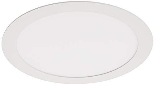 Downlight LED 18W Redondo Plano De Empotrar Luz Blanca Neutra 4200K, Aluminio Aro Blanco Mate, Para Hueco De 200-205mm Blanco
