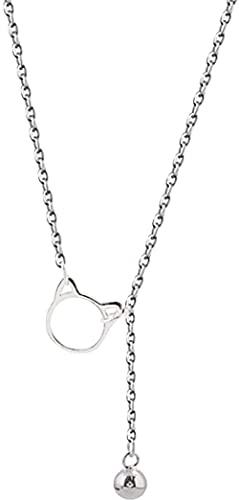 925 Sterling Silber Anhänger Einfache Katzenglocke Schlüsselbein Halskette Kristall Zirkonia 925 Sterling Silber Anhänger Halskette Geeignet Für Männer Und Frauen Mode Einfachen Geburtstag