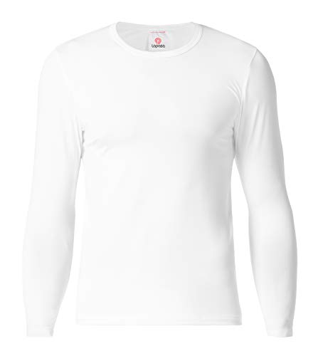 LAPASA Men's Thermal Underwear Tops Fleece Lined Base Layer Long Sleeve Shirts 1 Pack M09 (L Chest 41