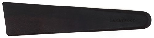 Earlywood 10 inch Handmade Wood Cooking Utensil for Kitchen, Multi-Purpose Wood Scraper and Egg Turner, Cast Iron Scraper and Wood Saute Spatula - Made in USA - Mexican Ebony