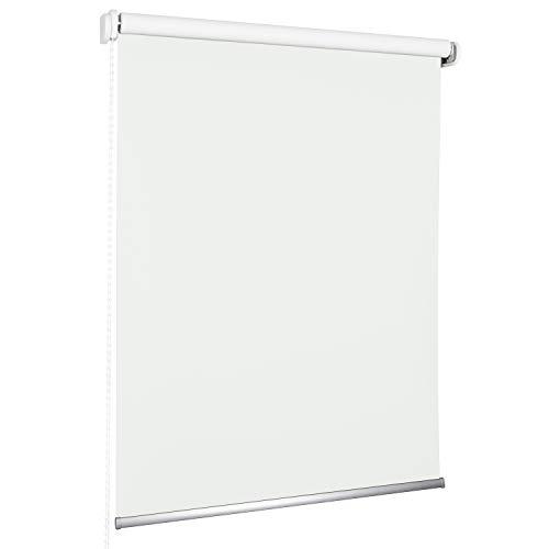 ROLLMAXXX Standard-Rollo Verdunkelungrollo Seitenzug Kettenzugrollo Tageslicht Sichtschutz (150 x 190 cm, Weiß)