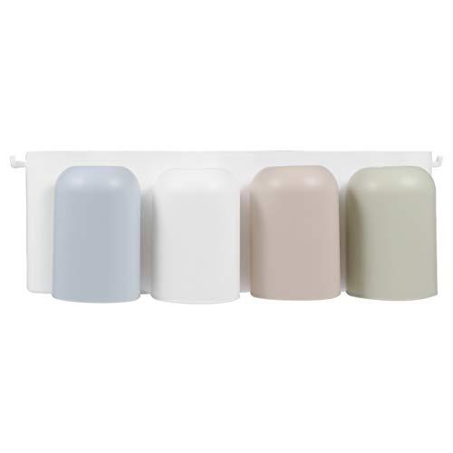 ARTIBETTER Porta-Escova de Dentes Adesivo Montado Na Parede Com 4 Xícaras Porta-Escova de Dente Porta-Pasta de Dente Organizador de Rack de Escova de Dente