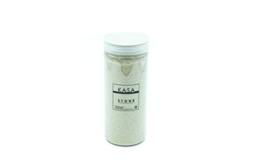 Kasa Decoration - Arena de color beige para decoración, 1120 g, 11 colores decorativos en tarros rígidos con tapón de rosca, fina 0,2 – 0,6 mm, ideal para tus ideas decorativas