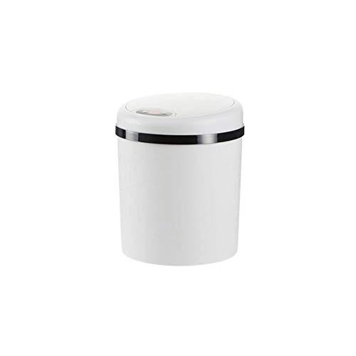 Xcwsmdq Mülleimer S/L-automatischer Sensor-Mülleimer Müll Mülltonne Mülleimer Papierkorb Kunststoff Wohnzimmer Intelligente Elektro-Trash Can Reinigungsmittel (Color : S White)