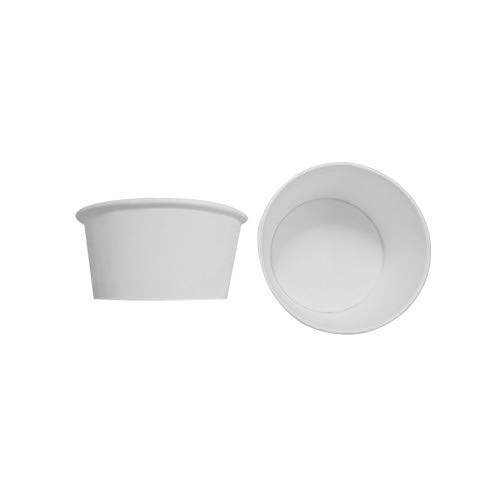180tarrinas para helado de cartón, color blanco, 160 cc, tamaño mediano + tapa