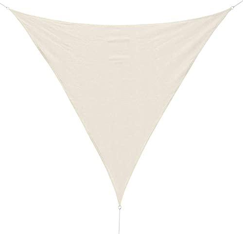 wuquansy Empresa Impermeable de Sombra Triangular de Alta Densidad Anti-UV-De Color Crema_3 * 3 * 3m