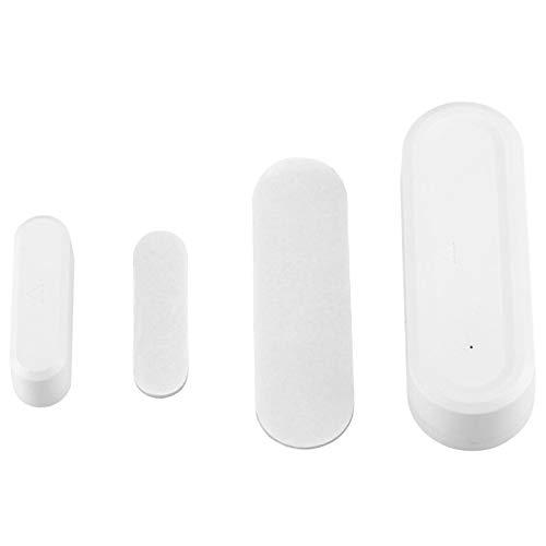 Nivvity Sensor magnético, Interruptor Detector de Sensor inalámbrico de Contacto magnético de Puerta de 433 MHz para Seguridad de Alarma de Garaje en casa