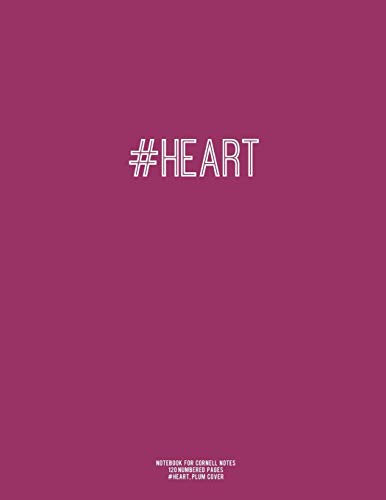 Notebook For Cornell Notes 120 Numbered Pages Heart Plum Cover For Taking Cornell Notes Personal Index