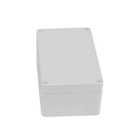 MASO Kunststoffgehäuse 150 x 200 x 130 IP65 ABS weiß wetterfest Außengehäuse Stromabzweigdose komplett mit Stecker