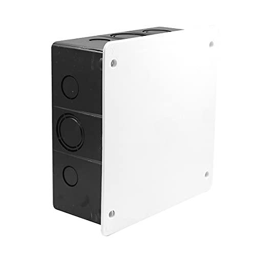 WITTKOWARE Unterputz Elektro Abzweigkasten/Verteilerkasten mit Deckel und Schrauben, 150x150 mm
