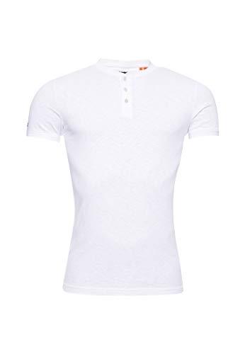 Superdry Herren Heritage Henley T-Shirt mit kurzen Ärmeln Optik XL