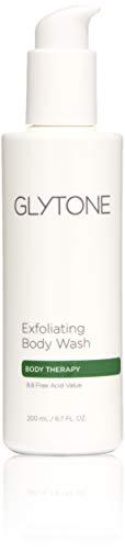 Glytone Exfoliating Body Wash with 8.8 Free Acid Value Glycolic Acid, Keratosis Pilaris, KP, Smooth Rough & Bumpy Skin, Chicken Skin, Oil-Free, Fragrance-Free 6.7 oz.