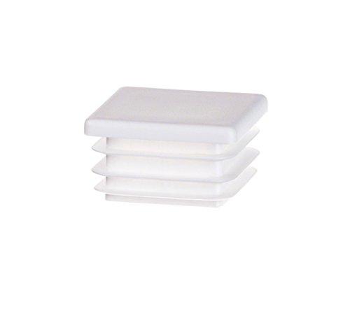 Quadratstopfen 40x40 mm Weiß | 5 Stück | Kunststoff Endkappen Verschlusskappen