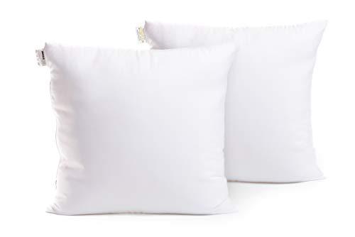 Jungle Home   Set 2 cuscini per divano 40x40cm   Imbottitura cuscini decorativi arredo divano, letto, poltrona   Riempimento extra 400g   Regolabile con zip   Indeformabile   Tessuto decorato lavabile