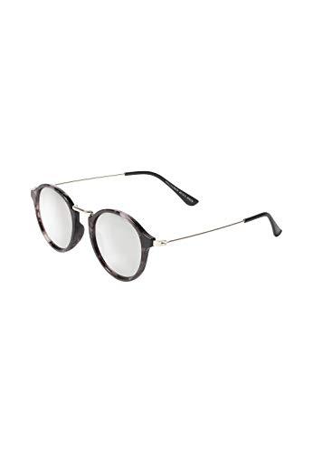 HALLHUBER Runde Sonnenbrille mit Metallbügeln schwarz, One Size