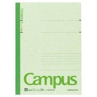 コクヨ キャンパスノート(カラー表紙) セミB5 A罫 30枚 緑 1冊