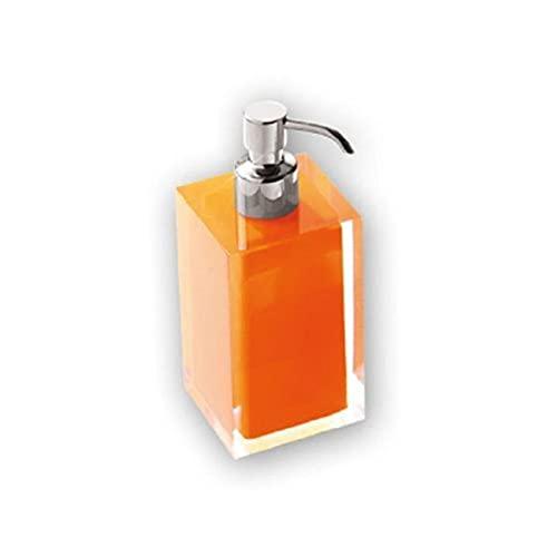 Gedy RA816700300 Dosificador de jabón, Naranja, 7x7x16,2
