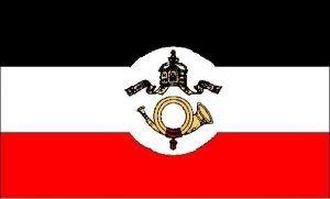 Flagge Fahne Kaiserliche Reichspost 90x150cm