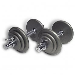 Ivanko Iron Plate Dumbbell Set (Ultimo-45)