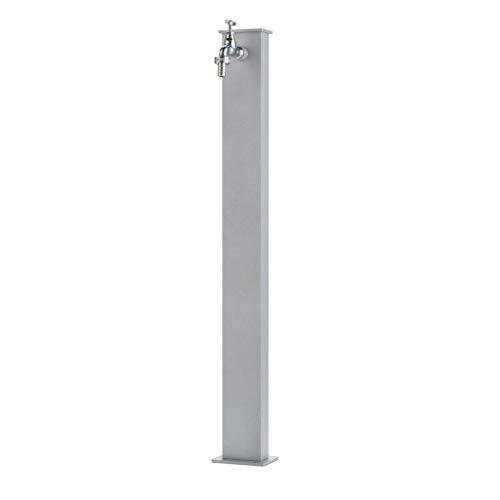 Fontana rettangolare light in metallo completa di impianto e rubinetto BEL-FER modello 42/RE, colore Alluminio