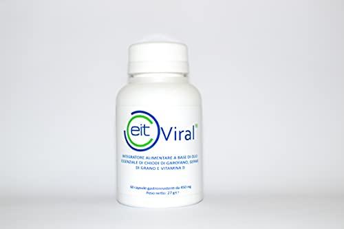 EIT-VIRAL | Complemento alimenticio | con efecto imunomodulador y antivírgenes | Vegan | Fabricado en Italia |