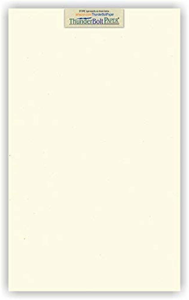 100 Earthy Cottonwood Fiber Cover Paper Sheets - 8.5
