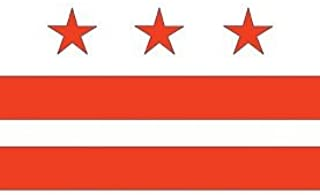 Valley Forge, District of Columbia Flag, Nylon, 3'x5', 100% Made in USA, Canvas Header, Heavy-Duty Brass Grommets