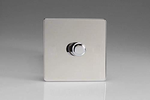Varilight 4-Gang 10 A 1 ou 2-Way Rocker Interrupteur De Lumière double plaque Premium Noir