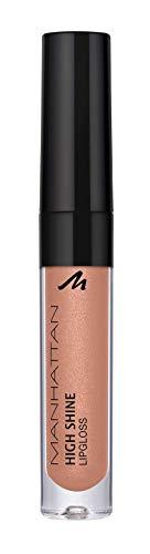 Manhattan High Shine Lipgloss, Glänzender Lipgloss für ein intensiv schimmerndes Finish auf den Lippen, In der Farbe 220