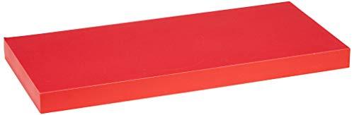 Modul'Home 6RAN791BC - Mensola in MDF, 50 x 22,8 x 3,4 cm, Pannello MDF, Rosso, 50 x 22,8 x 3,4 cm