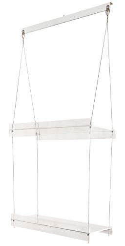 SupremeTech Hanging Acrylic Shelves for Windows (16' Wide, 2 Shelves - 35' Long)