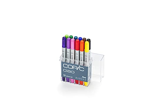 Copic 22075312 Ciao - Set di 12 Pennarelli, Multicolore