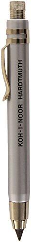 Koh-I-Noor 5359CN1015KK Druckbleistift/Drehbleistift Metall mit Minenspitzer und Clip - Minenstärke, 5,6 mm ,Silber