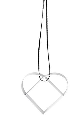 Stelton - Figura Ornament - Herz - Metall mit Farblackierung - Klein - W: 5cm x H: 5cm x Ø: 1,3cm