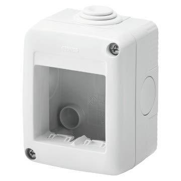Gewiss Contenitore Per Apparecchi System Protetto 2 Posti Grigio Ral 7035 IP40 GW27002