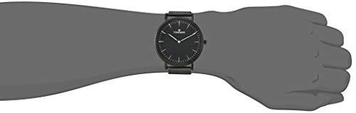 Tonnier Black Stainless Steel Slim Men Watch Quartz Watch Fashions Watches