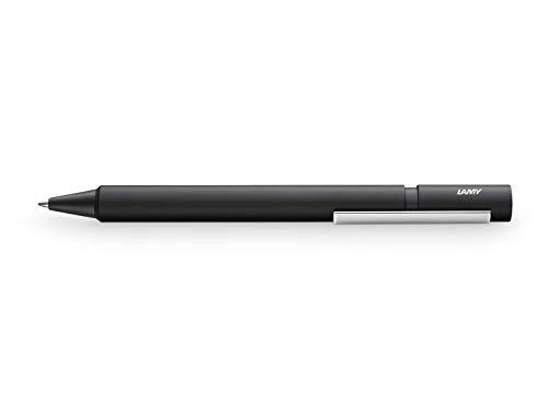 LAMY pur Kugelschreiber 247 – Kuli aus Aluminium in der Farbe Schwarz, rundmattiert – Mit Großraummine – Strichbreite M
