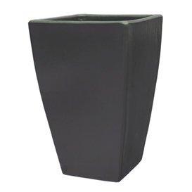 98619740 Pot « Rhode Niger » rectangulaire en grès Anthracite