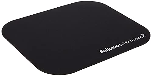 Fellowes 5933907 Mousepad con Microban, Nero