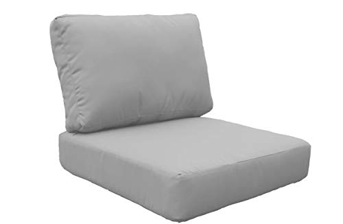 TK Classics Covers for Chair Cushions 4 inches Thick Grey