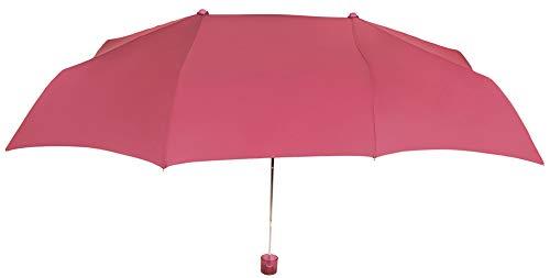 Práctico y Original Paraguas Vogue Plegable para Dos Personas, con protección Solar, antiviento y Acabado Teflón Que repele el Agua. Llévatelo de Viaje. (Fucsia)