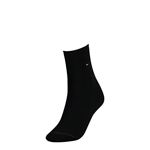 Tommy Hilfiger Damen TH Women 98% Cotton 1P Socken, Schwarz (black 200), 39/42 (Herstellergröße: 39-42)