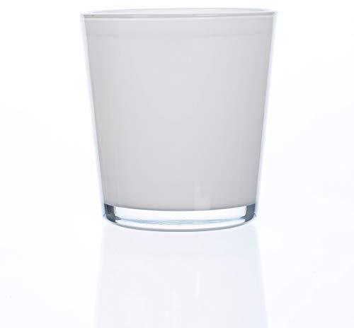 matches21 - Vaso per orchidee, in vetro, tinta unita, 1 pezzo, bianco crema