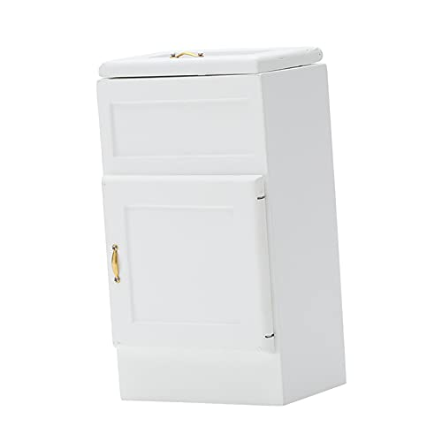 Hellery 1:12 casa de muñecas Miniatura Nevera Mini refrigerador de Madera casa de muñecas Mini electrodoméstico de Juguete