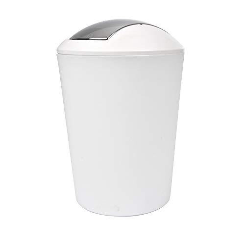 Douceur d'Intérieur 6PSB050BC Flic Flac Poubelle Blanc 5,6 L