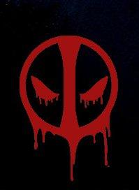 CCI Deadpool Blood Decal Vinyl Sticker|Cars Trucks Vans Walls Laptop| RED |5.5 x 3.75 in|CCI1168