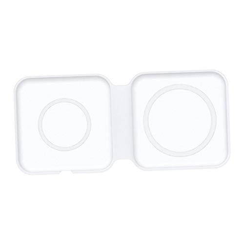 H HILABEE Cargador Inalámbrico Plegable Pequeño Tipo C Carga Dual Magnética para 12, Carga Rápida con Certificación Qi de 15 W Máx.