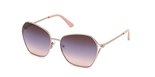 Guess occhiale da sole GU7687 28C oro rosa fumo taglia 62 mm Donna